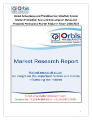 Global Active Noise and Vibration Control (ANVC) System Market Production, Sales and Consumption Status and Prospects Professional Market Research Report 2018-2023.pdf
