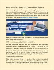 Epson Printer Tech Support For Common Printer Problems.pdf