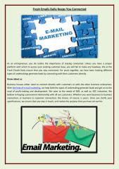 Fresh Emails Daily Keeps You Connected for better email  marketing service.pdf