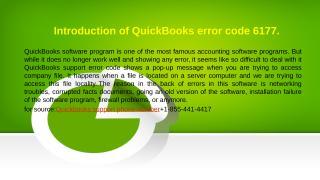 Introduction of QuickBooks error code 6177.pptx